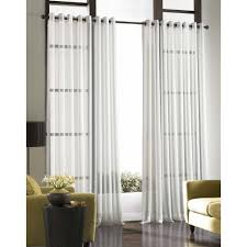 soho voile lightweight sheer grommet long length curtain panel 59 x 108 silver polyester solid