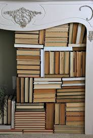 books make for a lovely look as featured at blue eyed yonder this is such a great idea for a non working fireplace