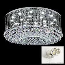 contemporary round led crystal celling light rain drop k9 crystal chandeliers flush mount led ceilinglights res lighting fixtures raindrop chandelier