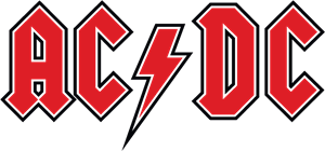 AC DC red Logo Vector (.EPS) Free Download