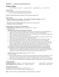 Sample Resume For School Counselor Free High School Counselor Resume 20440625500033 School Counselor