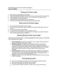 cover letter dos and don ts purpose of a cover letter dos donts of cover letters general
