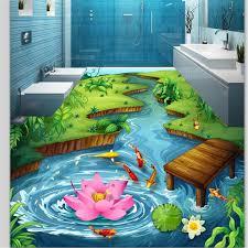 beibehang <b>Custom floor painting 3d</b> photo decoration painting park ...