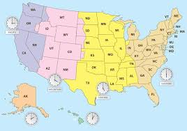 Time Map Time Zones Of Us Map Download Free Vectors Clipart