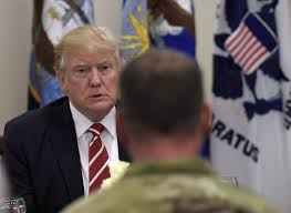 united states marine corps news io trump defends immigration restrictions during first trip to centcom base