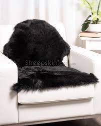 surprising black fur rug sheepskin town
