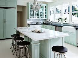 Modern Kitchen Counter Stools Kitchen Great Room Glossy Backsplash Waterfall Edge Countertops