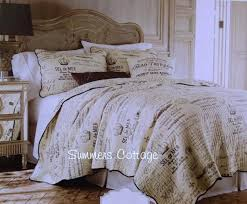 cover country french country farmhouse script postcard vintage paris cottage bedding king or queen view imagescottage stripe duvet stone