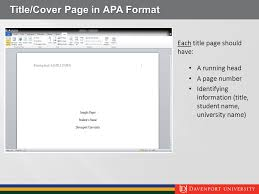 Apa Cover Pages Student Guide To Apa 6th Edition Ppt Video Online Download