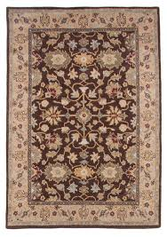 traditional royal wool hand tufted area rug carpet 5x8 brown blue green gold