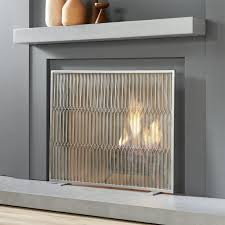 3 Fold Satin Nickel Fireplace Screen S701Modern Fireplace Screens