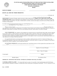 surety bond form download texas mvd surety bond sample form docshare tips