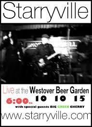starryville at westover beer garden saay oct 10 2016 5pm