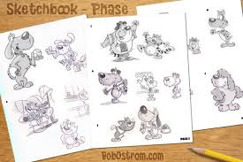 cartoon mascot sketches for mr chewy ostrom