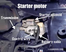 starter motor starting system how it works problems testing it consists of a powerful dc direct current electric motor and the starter solenoid that is attached to the motor see the picture