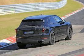 2018 porsche electric car. beautiful 2018 new 2018 porsche cayenne prototype on nurburgring in porsche electric car e