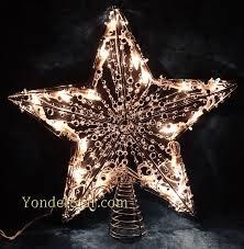 Accessories Tree Topper  Cracker Barrel Snowman Tree Topper Christmas Tree Lighted Star
