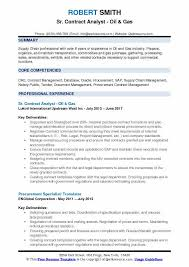 contract compliance resume contract analyst resume samples qwikresume