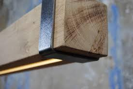 Led Lamp Houten Balk Hanglamp Kantoormeubelsnl