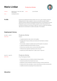 Excellent Resume Template Production Worker Resume Templates 2019 Free Download