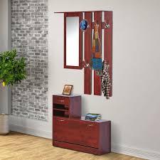 boot bench with coat rack entryway hall shoe storage organizer cabinet  shelf w mirror racks