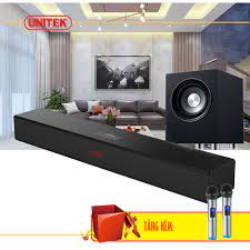 Bộ Loa Soundbar 5.1 Bluetooth Hát Karaoke AMOI L9 + Loa Trầm S1 Tặng Kèm 2  Micro Không Dây