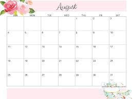 August Calandar Free Printable August 2019 Calendar Cute Magic Calendar