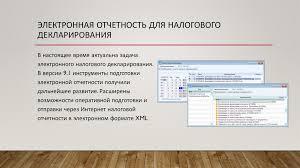 Отчет по производственной практике презентация онлайн  Электронная отчетность для налогового декларирования