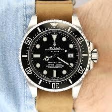 rolex deepsea sea dweller 116660 leather nato strap jpg