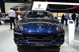 2015 Porsche Cayenne front at the Paris Motor Show 2014 - Indian ...
