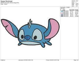Tsum Tsum Color Chart Tsum Tsum Stitch Embroidery Design Instant Download