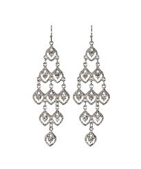 classic crystal chandelier earring rhodium clear hi res