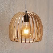 Houten Hanglamp Bela ø 30 Cm Lampen24nl