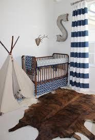 enchanting design ideas with woodland baby nursery charming design ideas using white blue stripes loose
