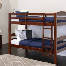 Amazon.com: Walker Edison Solid Wood Twin Bunk Bed, Espresso: Kitchen &  Dining