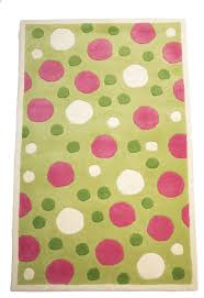 green and pink polka dot kids room rug contemporary kids rugs by rug and more