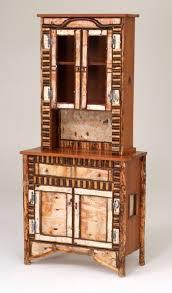 birch bark sideboard hutch design 1 bark furniture