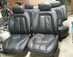 actual item 1993 1998 jeep grand cherokee complete set of leather seats 5 9