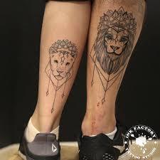 парная татуировка львы сделано в Inkfactory