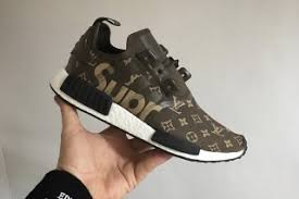 louis vuitton x adidas. here\u0027s what a supreme x louis vuitton adidas nmd_r1 might look like highsnobiety