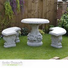 large garden table and bench set cast
