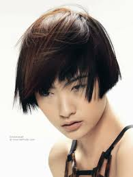 Short Asian Hair Style earlength asian hairstyle with a short cropped neck and highlights 6763 by wearticles.com