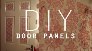 Wallpaper To Decorate Room Diy Room Decorations Wallpaper Door Panels Youtube