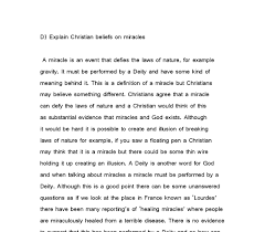 philosophy essay miracles and the existence of god gcse  document image preview