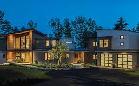 Balancing Act Maine Home Design Impressive Modern Exterior Cladding Panels Concept Property