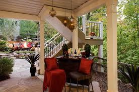 under deck patio traditional patio