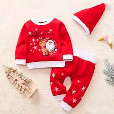 Toddler Baby Boys Girls Christmas Santa Fawn Print ... - Vova