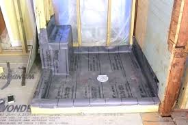 how to install shower pan on concrete floor installing a shower base on concrete floor install