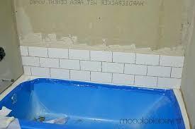 how to install bath tile x on bathtub shower surround house