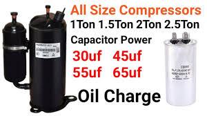Ac Compressor Oil Chart 21 Skillful 5 Ton Inverter Compressor Oil Capacity Chart